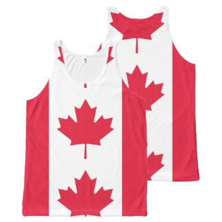 Flag of Canada - Drapeau du Canada All-Over Print Singlet
