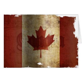 Flag of Canada / Grunge... Card