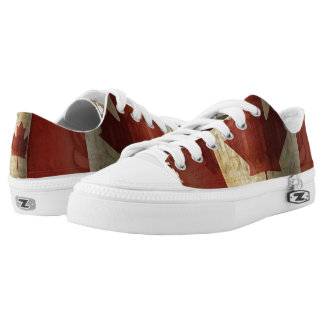 Flag of Canada / Grunge... Low Tops
