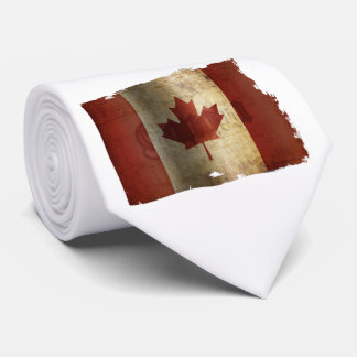 Flag of Canada / Grunge... Tie