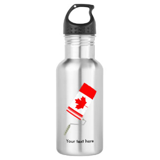 Flag of Canada Paint Roller 532 Ml Water Bottle