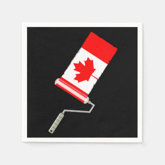Flag of Canada Paint Roller Disposable Serviettes