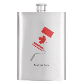 Flag of Canada Paint Roller Hip Flask