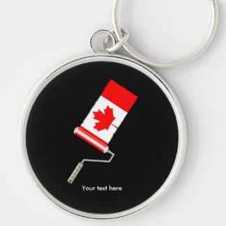 Flag of Canada Paint Roller Key Ring