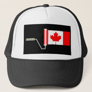 Flag of Canada Paint Roller Trucker Hat