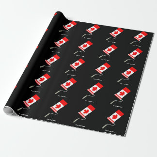 Flag of Canada Paint Roller Wrapping Paper