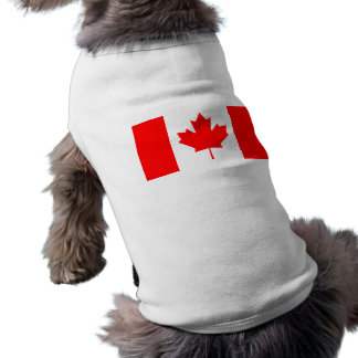 Flag of Canada Sleeveless Dog Shirt