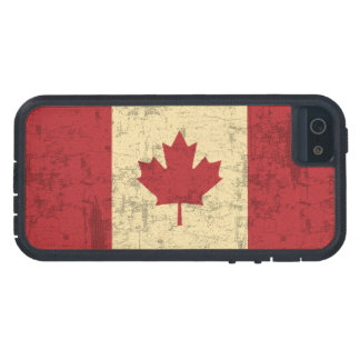 Flag of Canada Vintage Distressed Tough Xtreme iPhone 5 Case