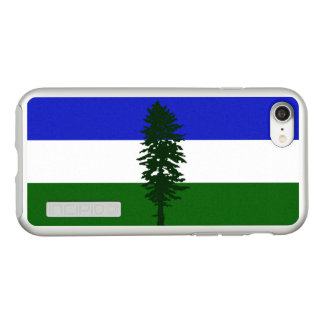 Flag of Cascadia Silver iPhone Case