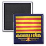 Flag of Cataluna (Catalonia) Square Magnet