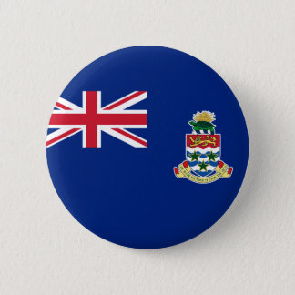 Flag of Cayman Islands (UK) on Button Badge