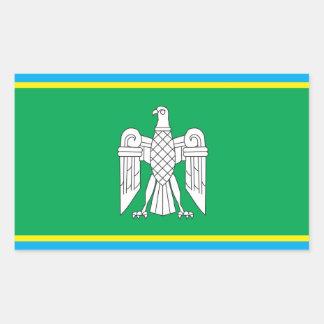 Flag of Chernivtsi Oblast, Ukraine Rectangular Sticker