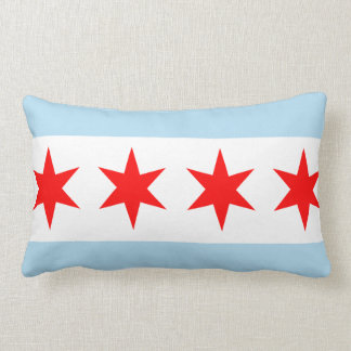 Flag of Chicago American MoJo Pillow