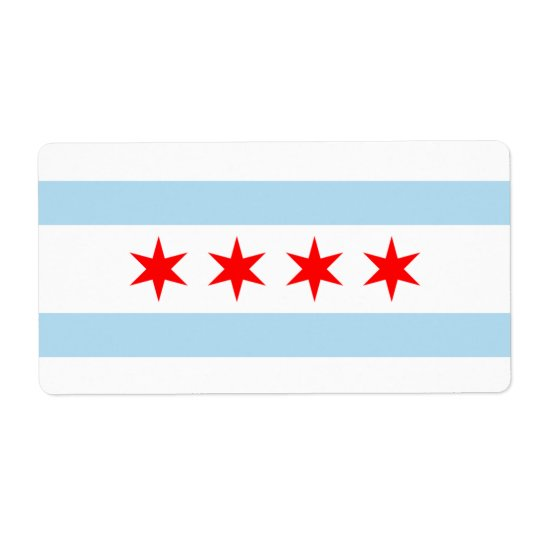 Flag of Chicago Avery Label Shipping Label