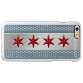 Flag of Chicago Brushed Metal