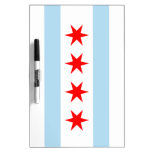 Flag of Chicago Dry Erase Board