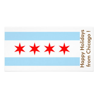 Flag of Chicago, Happy Holidays from U.S.A. Photo Cards
