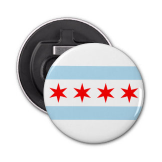 Flag of Chicago, Illinois Bottle Opener