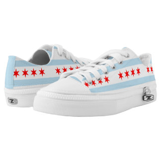 Flag of Chicago, Illinois Low Tops