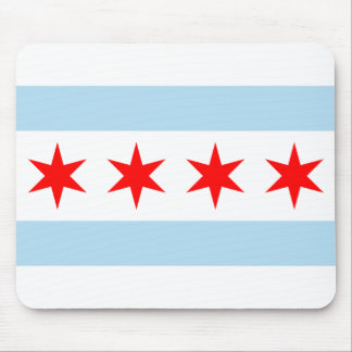 Flag of Chicago, Illinois Mouse Pad