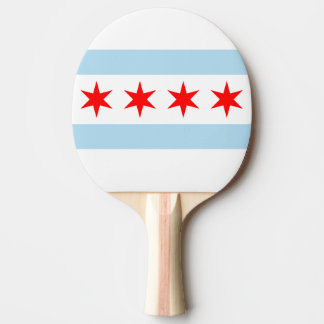 Flag of Chicago, Illinois Ping Pong Paddle