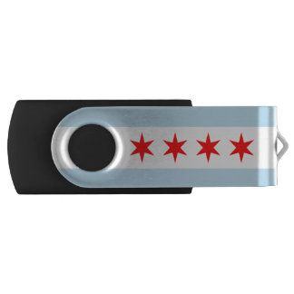 Flag of Chicago, Illinois USB Flash Drive