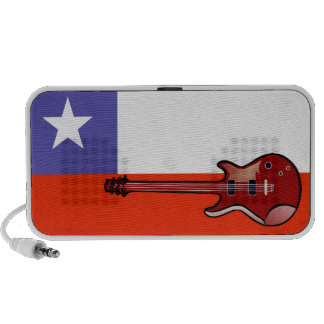Flag of Chile Electric Guitar Doodle Speaker