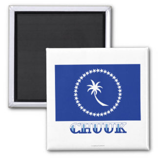 Flag of Chuuk, with name Magnet