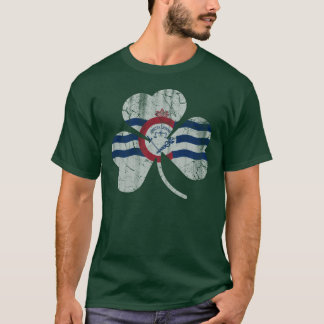 Flag of Cincinnati Flag Shamrock T-Shirt
