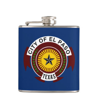 Flag of City of El Paso, Texas Hip Flask