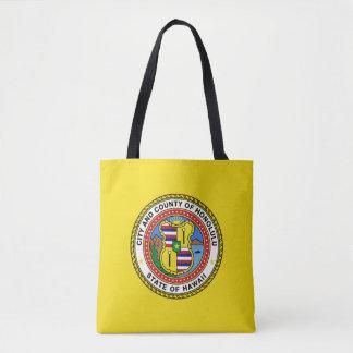 Flag of city of Honolulu, Hawaii Tote Bag