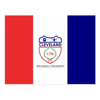 Flag of Cleveland, Ohio Postcard