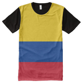Flag of Colombia - Bandera de Colombia All-Over Print T-Shirt