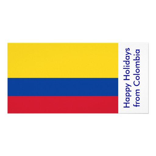Flag of Colombia, Happy Holidays from Colombia Photo Card Template