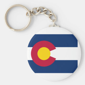 flag of colorado basic round button key ring