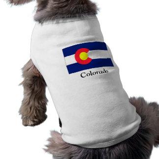 Flag of Colorado Pet T Shirt