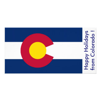 Flag of Colorado, Happy Holidays from U.S.A. Photo Cards