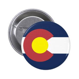 Flag of Colorado Pinback Button