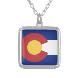 Flag of Colorado Silver Plated Necklace