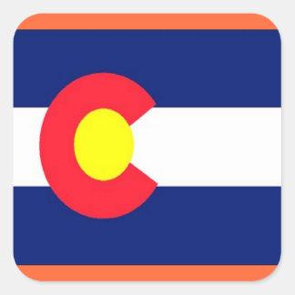 Flag of Colorado Square Sticker