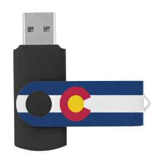 Flag of Colorado Swivel USB 2.0 Flash Drive