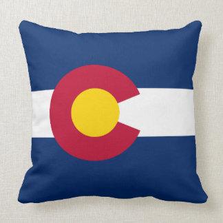 Flag of Colorado Throw Pillow