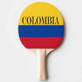 Flag of Columbia Bandera De Colombia Ping Pong Paddle