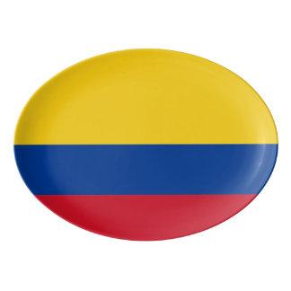Flag of Columbia Bandera De Colombia Porcelain Serving Platter