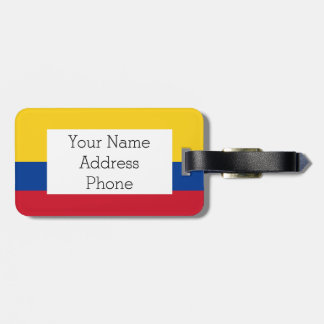 Flag of Columbia, Republic of Colombia Luggage Tag