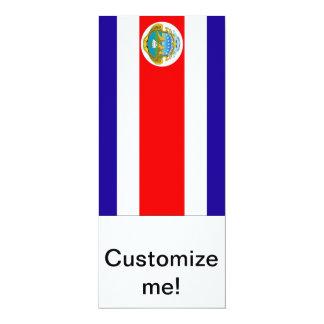 Flag of Costa Rica 10 Cm X 24 Cm Invitation Card