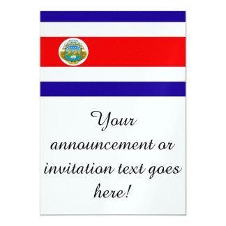 Flag of Costa Rica 13 Cm X 18 Cm Invitation Card