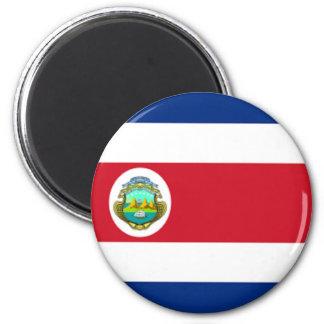 flag of Costa Rica 6 Cm Round Magnet