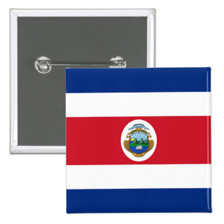 Flag of Costa Rica Pinback Button