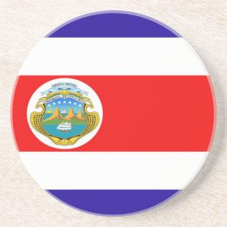 Flag of Costa Rica Beverage Coasters
